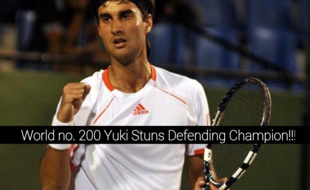 Huge News : Yuki Bhambri, knocks out Defending Champion & World no. 22 at ATP Citi Open