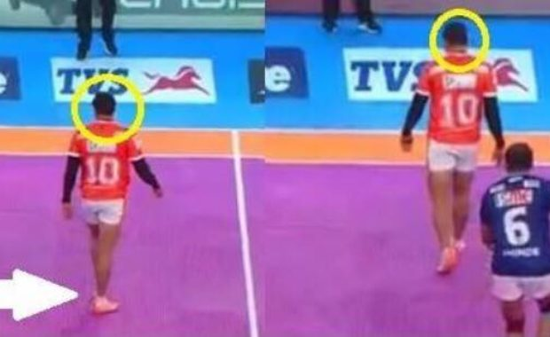 """Watch : Video of """"Greatest Tackle of Pro Kabaddi"""", Nilesh Shinde dashes out Sandeep"""