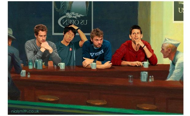 Andy Murray & Novak Djokovic among injured Tennis Stars in 'Nighthawks' parody