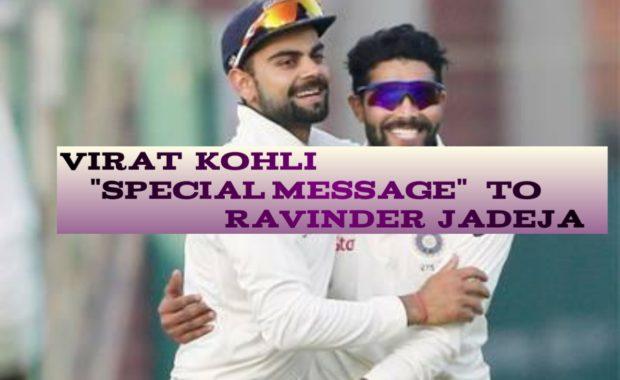 Virat Kohli's Special Message For 'Sword Master' Ravindra Jadeja