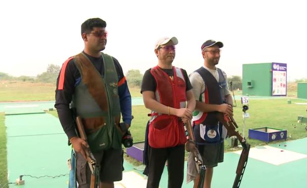 Sangram Dahiya  wins double trap silver , India End With 3 Medal