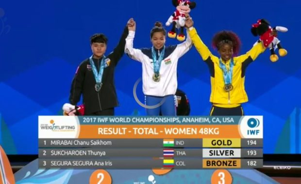 Mirabai Chanu  won gold at world weightlifting championships become only 2nd Indian to do that