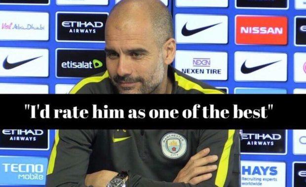 Pep Guardiola praises Manchester City star