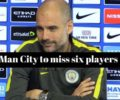 Man City team news for Crystal Palace game