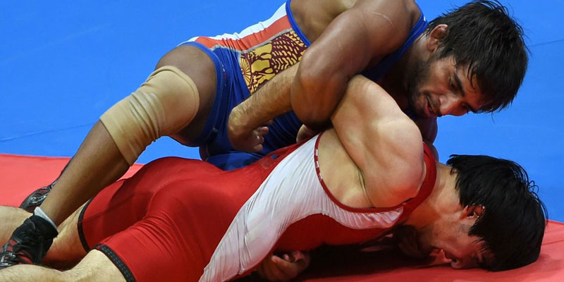 Bajrang Punia in Commonwealth Wrestling Championship
