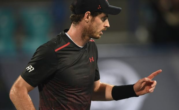 Andy Murray speaks after his one-set exhibition match