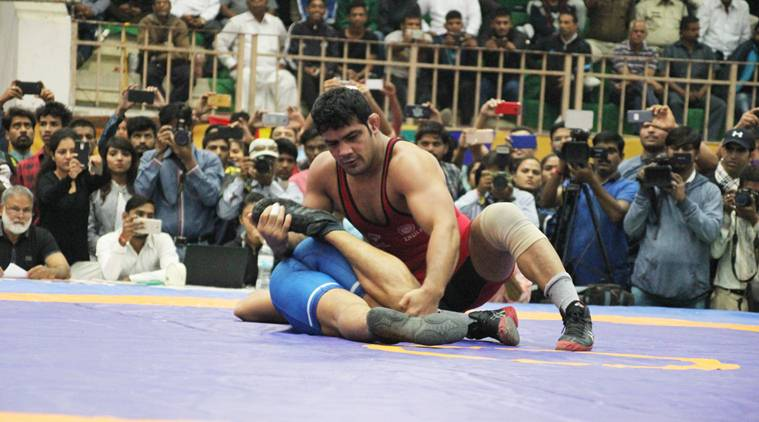 Sushil Kumar At Commonwealth Championship 2