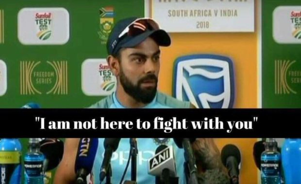 Watch : Virat kohli lashes out in press conference