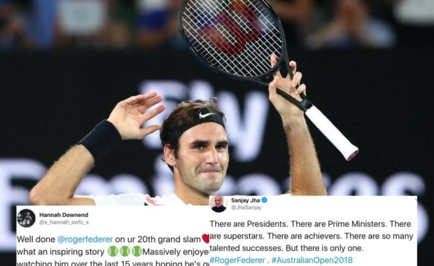 "Australian Open: Twitter goes wild as Roger Federer lifts his ""20th Grand Slam Title"""