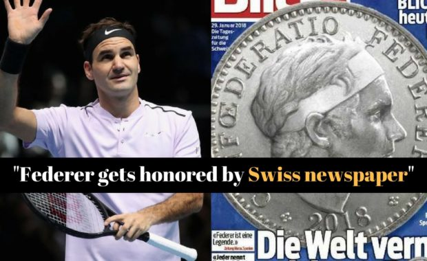 Roger Federer gets honour by a Swiss newspaper