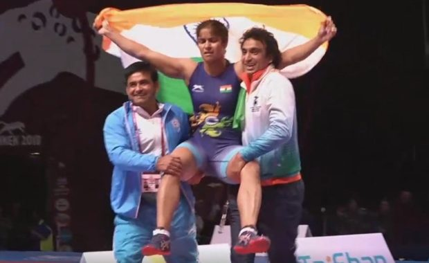 Navjot Kaur won India First Gold Medal of 2018 Asian Wrestling Championship