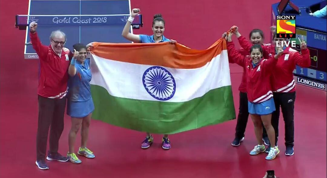 Indian women's table tennis team CWG 2018