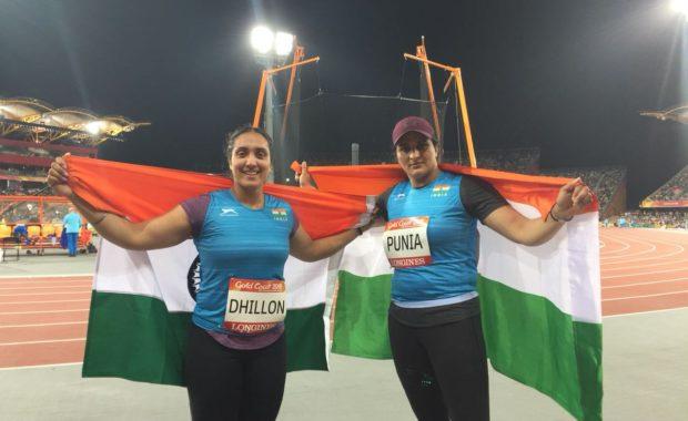 CWG 2018 Athletics: Seema Punia & Navjeet Dhillon wins silver & bronze in women's discus throw