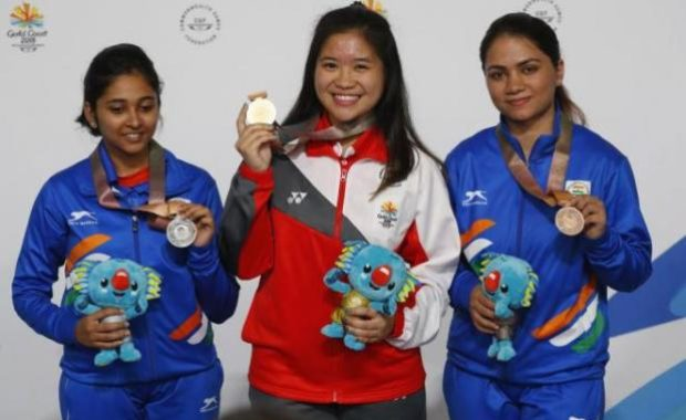 CWG 2018: Mehuli Ghosh wins Silver, Apurvi Chandela gets Bronze in Women's 10m Air Rifle