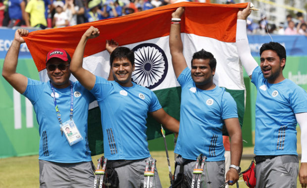 "Archery World Cup : Indian Compound Team storms into ""GOLD-Medal"" match, beats top ranked U.S.A"