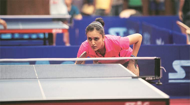 Manika Batra at World Team table Tennis Championship