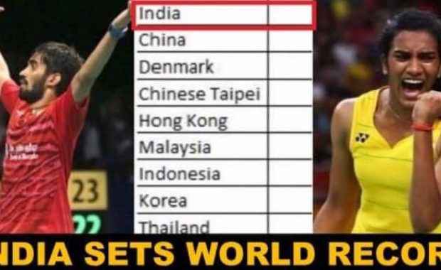 Indian shuttlers overtake China to create a new Record