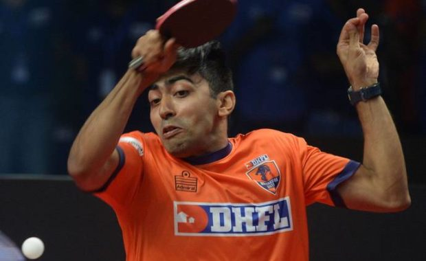 Ultimate Table Tennis : Harmeet Desai defeats World no. 19, cause biggest upset of the tournament