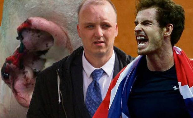 Man who bit chunk out of stepdad's ear over Andy Murray's nationality debate, ordered to pay huge fine