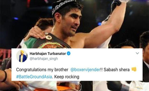 "Twitter explodes as ""Vijender Singh Defeats Chinese no. 1 Boxer"" to lift 2nd WBO Title"