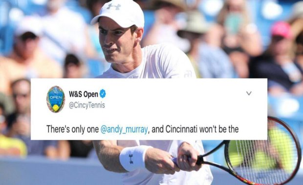 """Cincinnati Masters official account wish """"Andy Murray"""" with a beautiful message after his withdrawal"""
