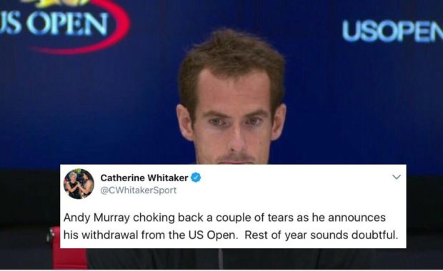 "Twitter reacts after ""Andy Murray pulls out of the US Open 2017"""