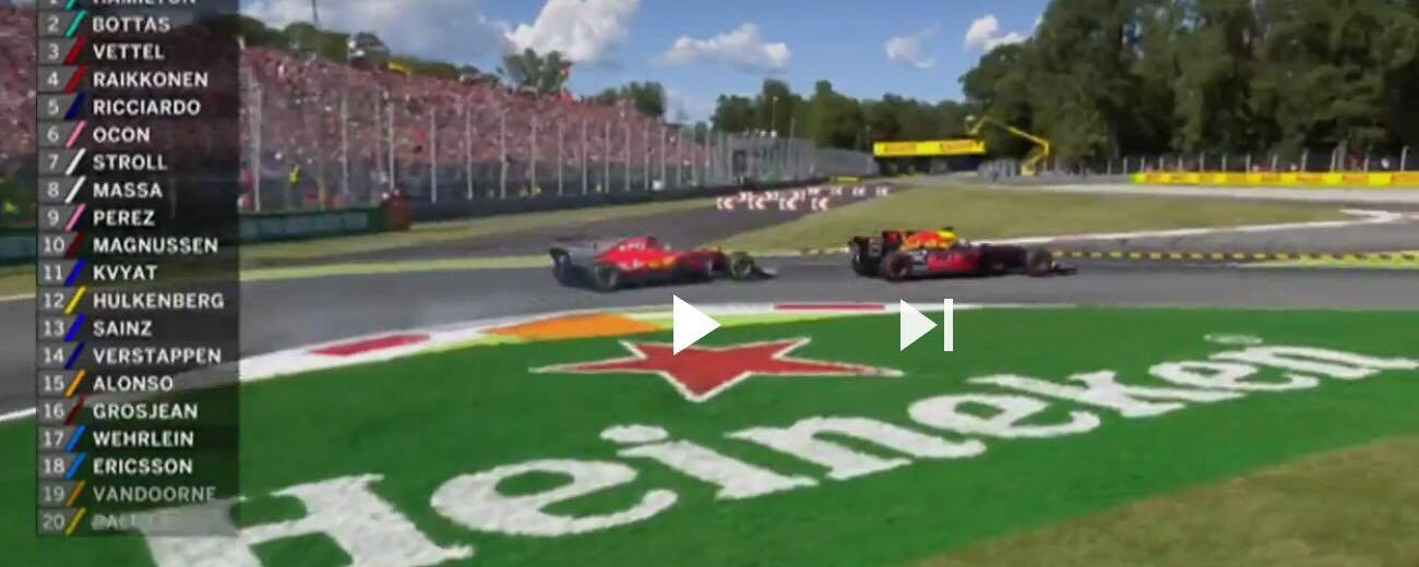 Watch : Daniel Ricciardo sensational move of the day on Kimi Raikkonen