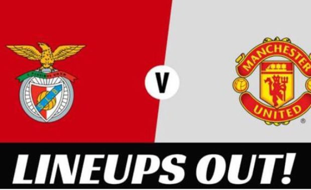 Benfica vs Manchester United – Lineups out!