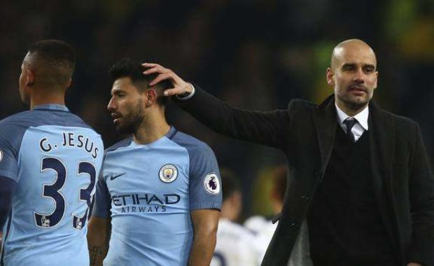 Guardiola reveals why Aguero & Jesus can't play together even when both are fit