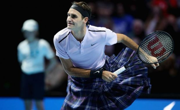 Federer hilariously beats Andy Murray while wearing a kilt
