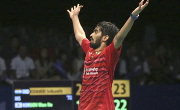 "BWF Rankings : Kidambi Srikanth back into ""Top 3"", Sai Praneeth too rises"