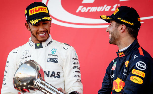 Christian Horner : Lewis Hamilton should not underestimate Daniel Ricciardo in F1 2018