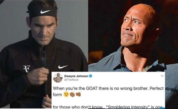 Roger Federer mimics The Rock, gets a witty reply in return