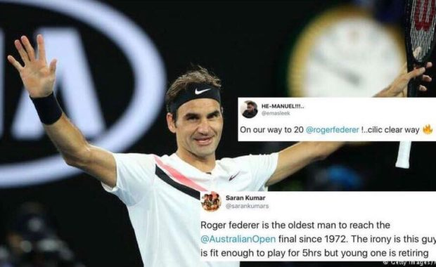 Twitter erupts as Roger Federer smashed number of records by reaching Aus Open Final