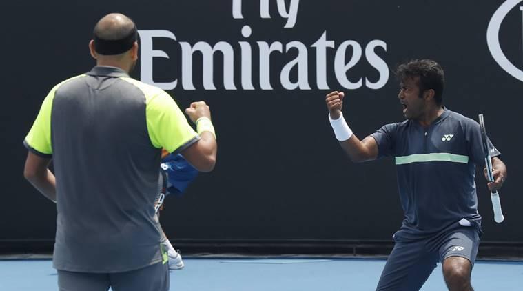 Purav Raja Leander Paes Australian Open 2018