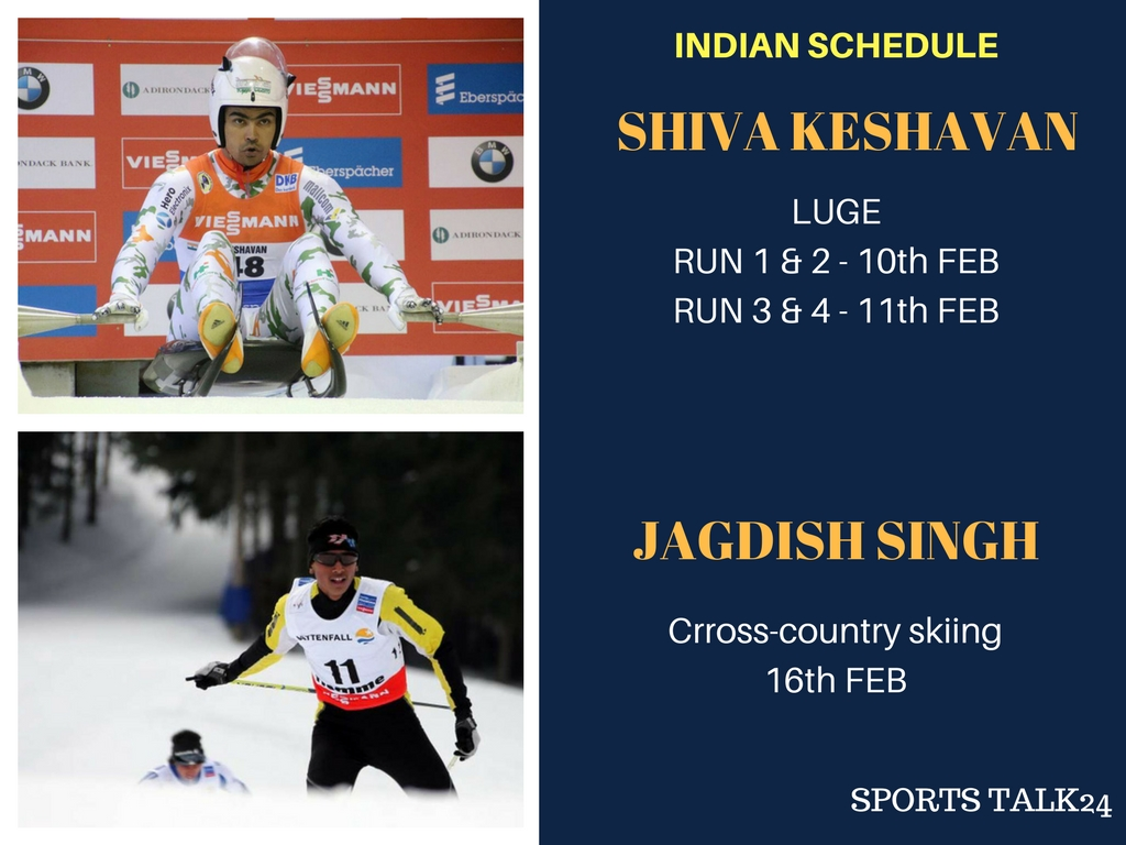 Indian Schedule Timings Winter Olympics 2018