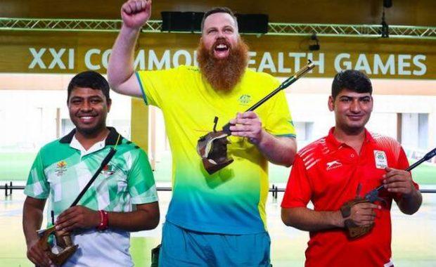 CWG 2018: Om Mitharval wins bronze in 50m pistol, Jitu Rai disappoints
