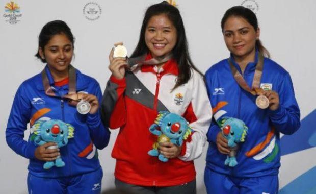 CWG 2018: Mehuli Ghosh wins Silver, Apurvi Chandela gets Bronze in Women's 10m Air Rifle