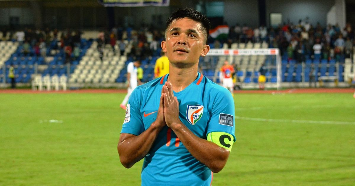 Sunil Chhetr highest active international goalscorers' list