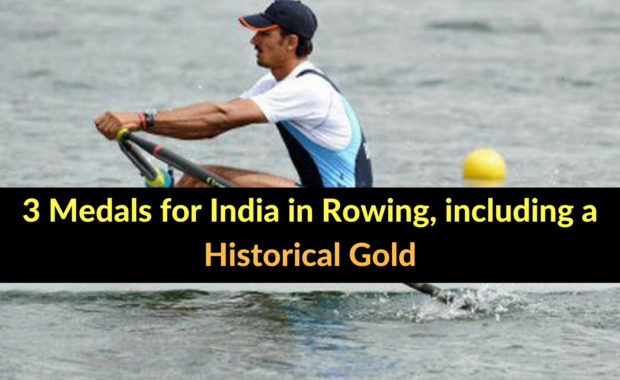 Asian Games: India wins one gold & two bronze in Rowing on Day 6