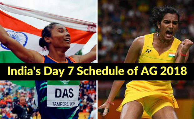 Asian Games 2018: India's Day 7 Schedule with Timings