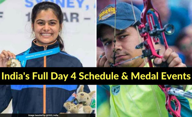 Asian Games 2018: India's Day 4 Schedule & Medal Events
