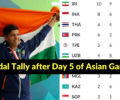 Asian Games 2018: Medal Tally after Day 5