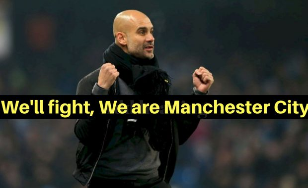 """Guardiola believe in come back said """"We will come back fighting"""""""