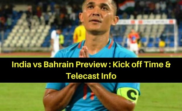 AFC Asian Cup 2019: India vs Bahrain Preview, Live Telecast Info
