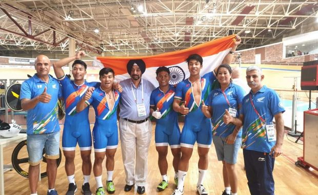 Indian Junior Sprint team create history as they won first ever gold for India at World Junior cycling Championships
