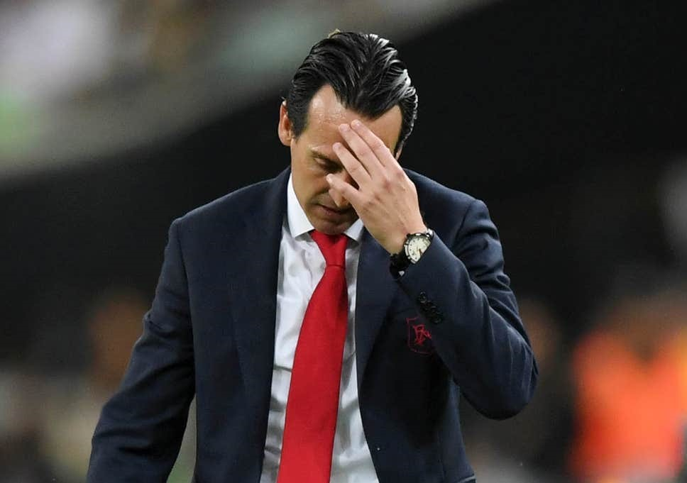 Arsenal Unai Emery defeat