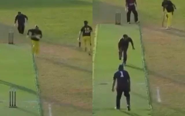 WATCH Funny incident at ECS T20 : Batsmen steal two runs despite Wicketkeeper had the ball in his hand
